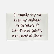 Sadness Mental Illness Rectangle Magnet