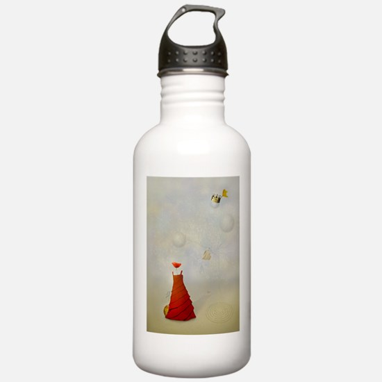 Dreams and poppy - surrealism Water Bottle