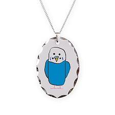 Unique Blue budgie Necklace