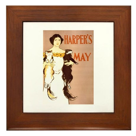 Harper's May Framed Tile