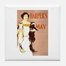 Harper's May Tile Coaster