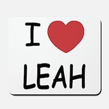 I heart leah Mousepad
