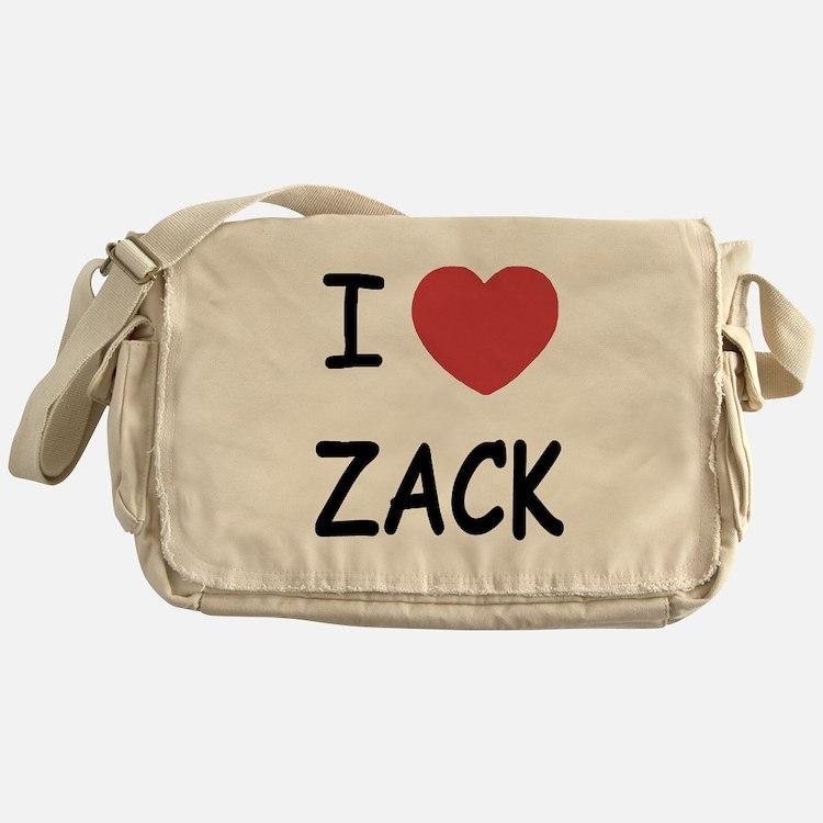 I heart zack Messenger Bag
