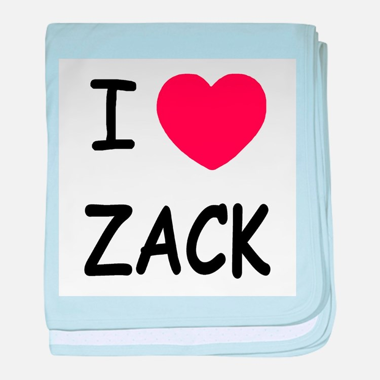 I heart zack baby blanket