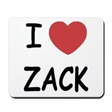 I heart zack Mousepad