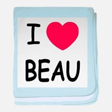 I heart beau baby blanket