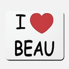 I heart beau Mousepad
