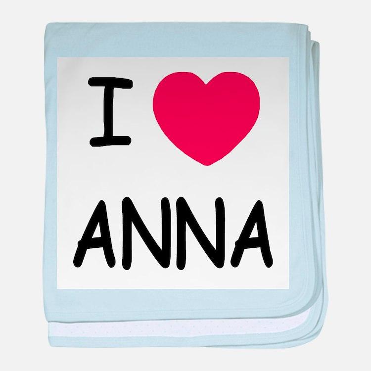 I heart anna baby blanket