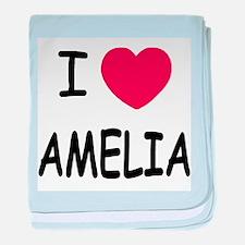 I heart amelia baby blanket