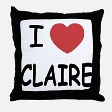 I heart claire Throw Pillow