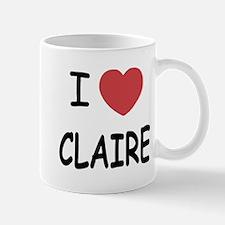 I heart claire Mug