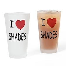 I heart shades Drinking Glass