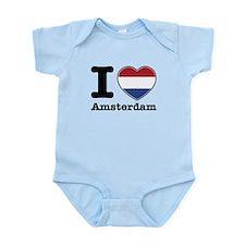 I love Amsterdam Infant Bodysuit