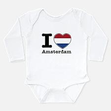 I love Amsterdam Long Sleeve Infant Bodysuit