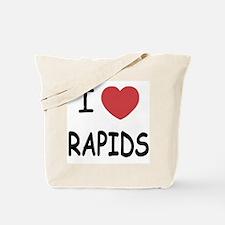 I heart rapids Tote Bag