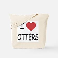I heart otters Tote Bag