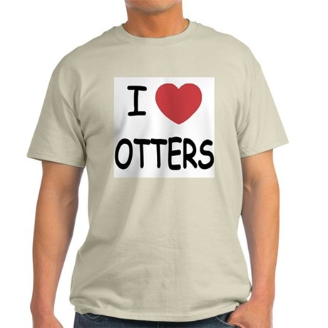 I heart otters Light T-Shirt