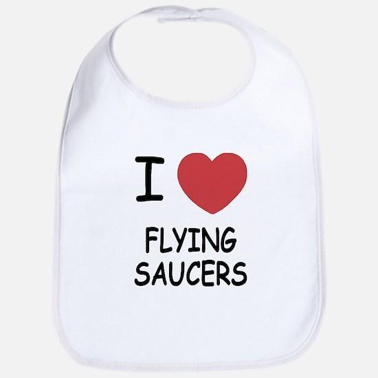 I heart flying saucers Bib