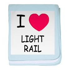 I heart light rail baby blanket
