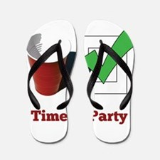 Time To Party Flip Flops
