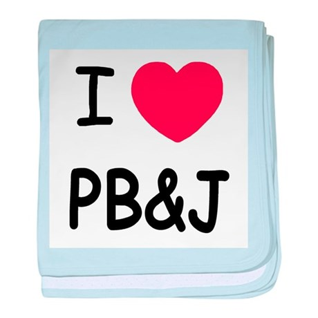 I heart pb and j baby blanket