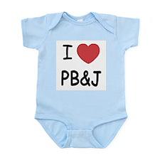I heart pb and j Infant Bodysuit