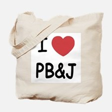 I heart pb and j Tote Bag