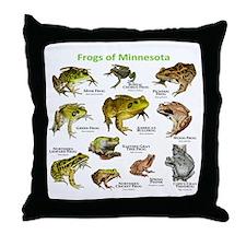 Frogs Species of Minnesota Throw Pillow