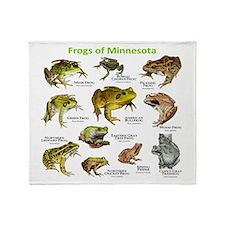 Frogs Species of Minnesota Throw Blanket