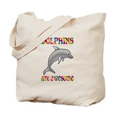 Awesome Dolphins Tote Bag