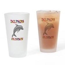 Awesome Dolphins Drinking Glass