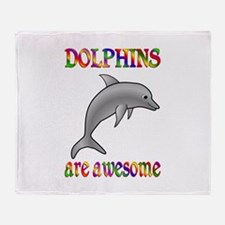 Awesome Dolphins Throw Blanket