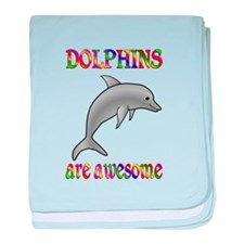 Awesome Dolphins baby blanket