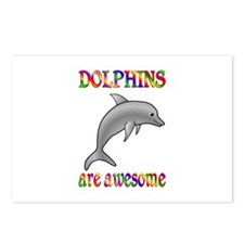 Awesome Dolphins Postcards (Package of 8)