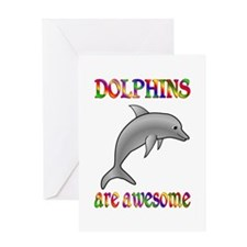 Awesome Dolphins Greeting Card