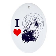 Wolf Lover Ornament (Oval)