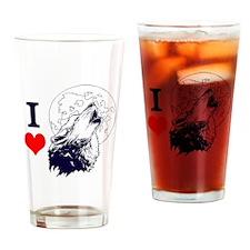 Wolf Lover Drinking Glass
