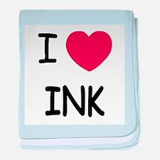 I heart ink baby blanket