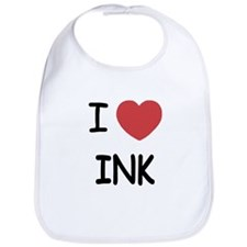 I heart ink Bib