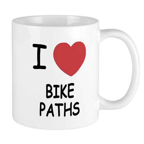 I heart bike paths Mug