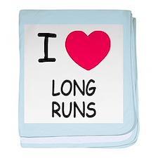I heart long runs baby blanket