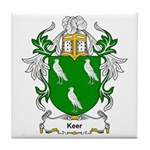 Keer Coat of Arms Tile Coaster