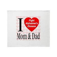 Fight Alzheimer's Disease Throw Blanket