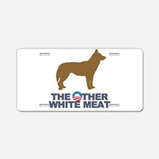 Dog, The Other White Meat Aluminum License Plate
