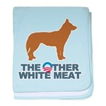 Dog, The Other White Meat baby blanket