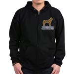 Dog, The Other White Meat Zip Hoodie (dark)