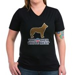Dog, The Other White Meat Women's V-Neck Dark T-Sh
