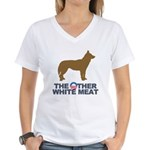 Dog, The Other White Meat Women's V-Neck T-Shirt