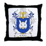 de Kater Coat of Arms Throw Pillow