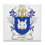 de Kater Coat of Arms Tile Coaster